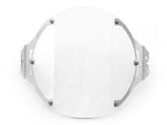 AltRider Clear Headlight Guard for the Triumph Bonneville / T100 - Silver - Feature