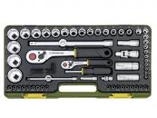 "Proxxon 65-Piece 1/4"" and 1/2"" Drive Socket Set - Feature"
