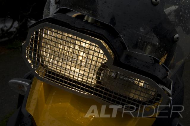 AltRider Stainless Steel Headlight Guard Kit for the BMW F 800 GS /A - Action Shot