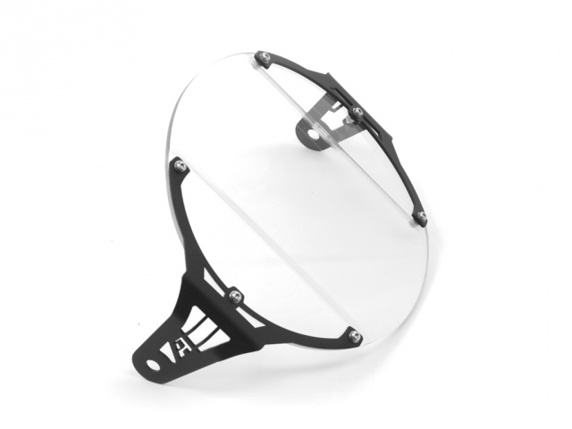 AltRider Clear Headlight Guard for the Triumph Bonneville / T100 - Black - Additional Photos