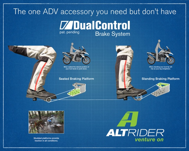 AltRider DualControl Brake System for the Kawasaki KLR 650 (2011-current) - Additional Photos