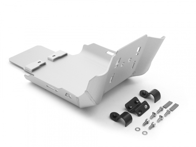 AltRider Skid Plate for Triumph Bonneville / T100 - Silver - Additional Photos