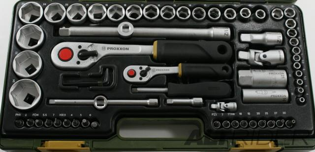 "Proxxon 65-Piece 1/4"" and 1/2"" Drive Socket Set - Additional Photos"
