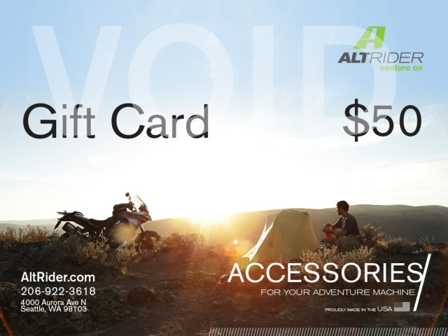 Altrider $50 Gift Certificate - Feature