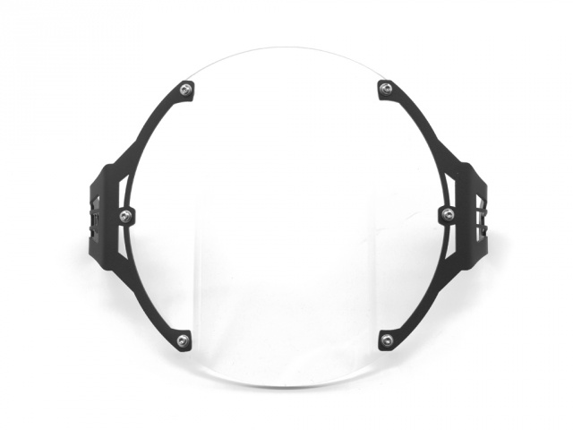 AltRider Clear Headlight Guard for the Triumph Bonneville / T100 - Black - Feature