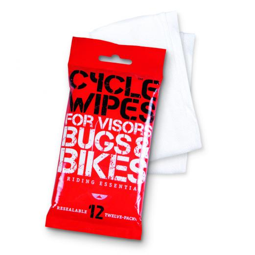 Cycle Wipes Disposable Visor / Bike Cleaner (12 Pack) - Feature