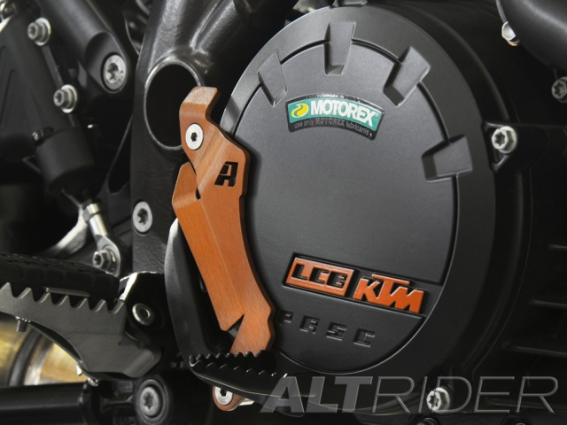 AltRider Brake Lever Shield for the KTM 1050/1090/1190 Adventure / R - Installed