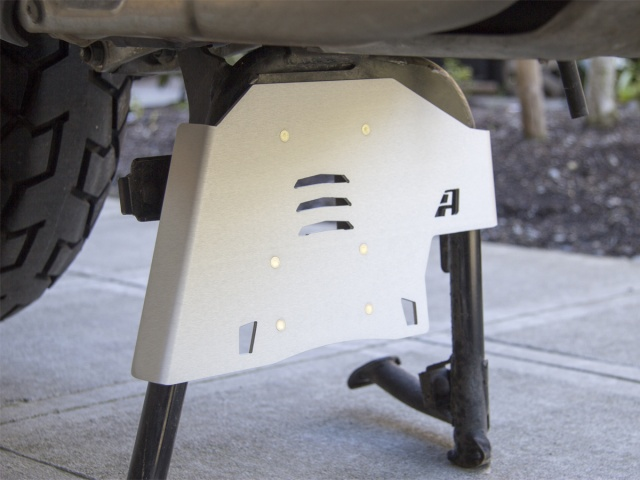 AltRider Center Stand Skid Plate for the Honda CRF1000L Africa Twin - Silver - Installed