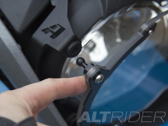 AltRider R113-2-1105-V2 Black Clear Headlight Guard for BMW R 1200 /& R 1250 GS//GSA