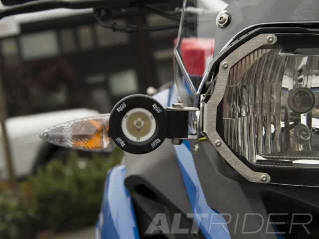 AltRider Clear Headlight Guard Kit for the BMW F 700 GS - Installed