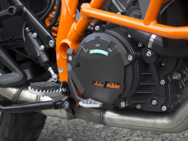 AltRider Clutch Side Engine Case Cover for the KTM 1050/1090/1190 Adventure / R - Black - Installed