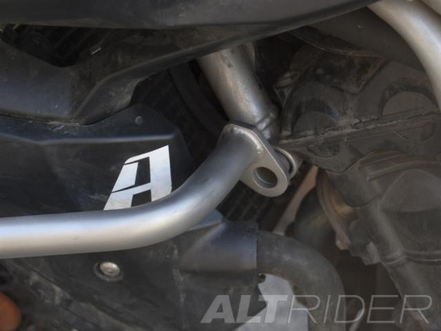 AltRider Crash Bars for the Triumph Tiger 800 - Silver - Installed