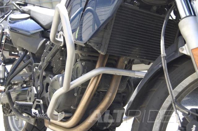 AltRider Crash Bars Kit for the BMW F 650 GS - Silver - Installed