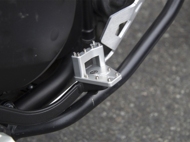 AltRider DualControl Brake System for the Kawasaki KLR 650 (2011-current) - Installed