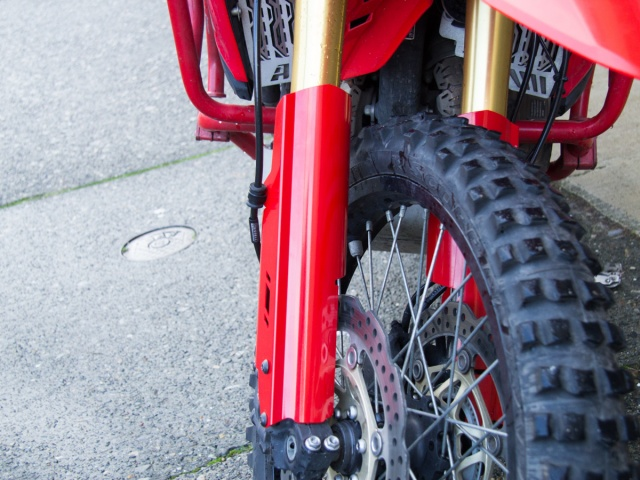 AltRider Fork Leg Guards for the Honda CRF1000L Africa Twin - Installed