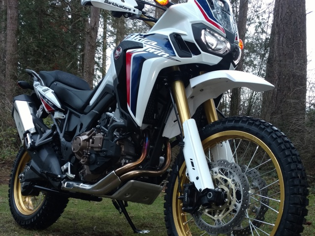 AltRider High Fender Kit for the Honda CRF1000L Africa Twin - White - Installed