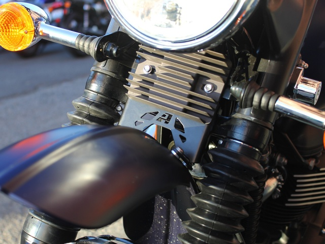 AltRider High Fender Mount for the Triumph Scrambler - Installed
