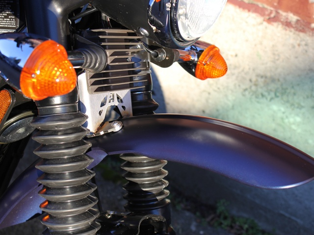 AltRider High Fender Mount for the Triumph Scrambler - Silver - Installed
