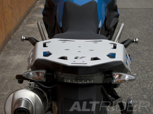 AltRider Luggage Rack for BMW F 700 GS - Silver - Installed