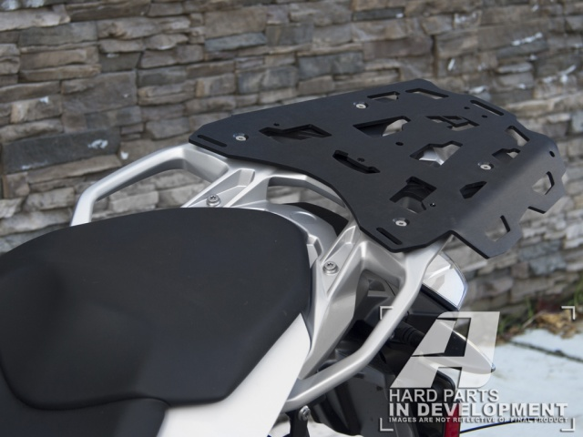 AltRider Luggage Rack for the BMW S 1000 XR - Silver - Installed
