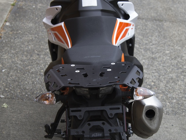 AltRider Luggage Rack for the KTM 790 Adventure / R - Installed