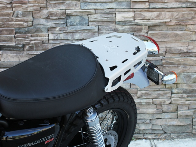 AltRider Luggage Rack for Triumph Scrambler - Installed
