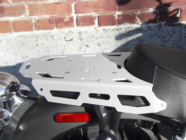 AltRider Luggage Rack for Triumph Thruxton - Silver - Installed
