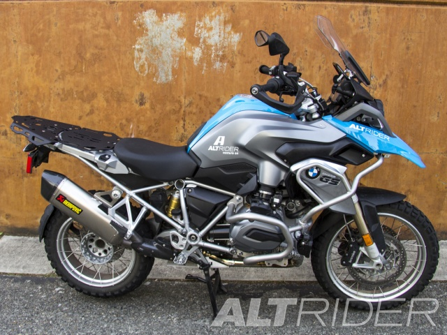 AltRider Luggage Rack System for BMW R 1200 & R 1250 GS /GSA Water Cooled - Black - Installed