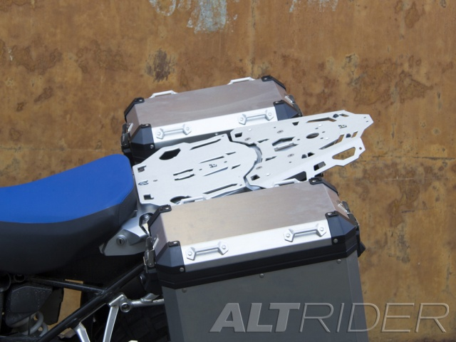 AltRider Luggage Rack System for BMW R 1200 & R 1250 GS /GSA Water Cooled - Silver - Installed
