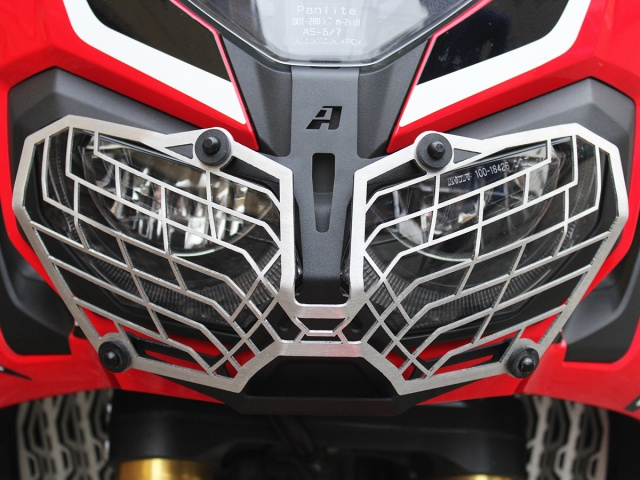 AltRider Mesh Headlight Guard for the Honda CRF1000L Africa Twin/ ADV Sports - Installed