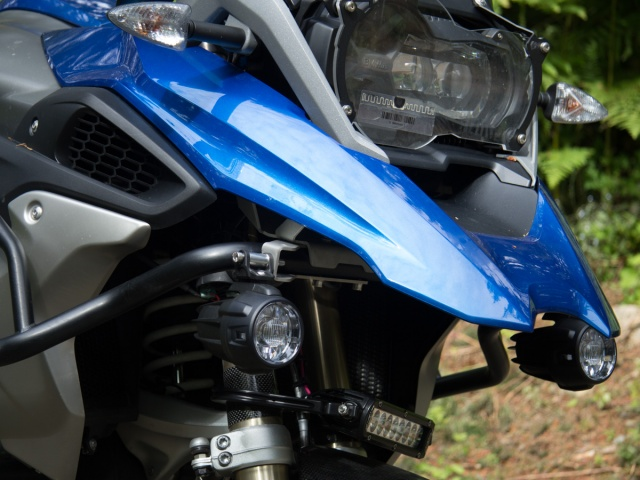 AltRider OEM LED Mount Brackets for the BMW R 1200 & R 1250 GS (2017-current) - Installed