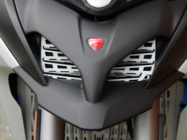 AltRider Oil Cooler Guard for the Ducati Multistrada - Installed