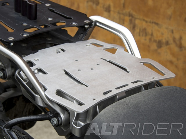 AltRider Pillion Luggage Rack for Yamaha Super Tenere XT1200Z - Silver - Installed