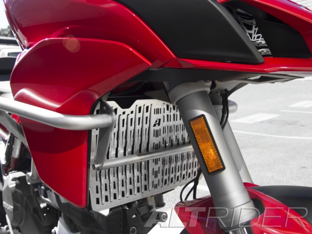 AltRider Radiator Guard for Ducati Multistrada (2015-current) - Silver - Installed