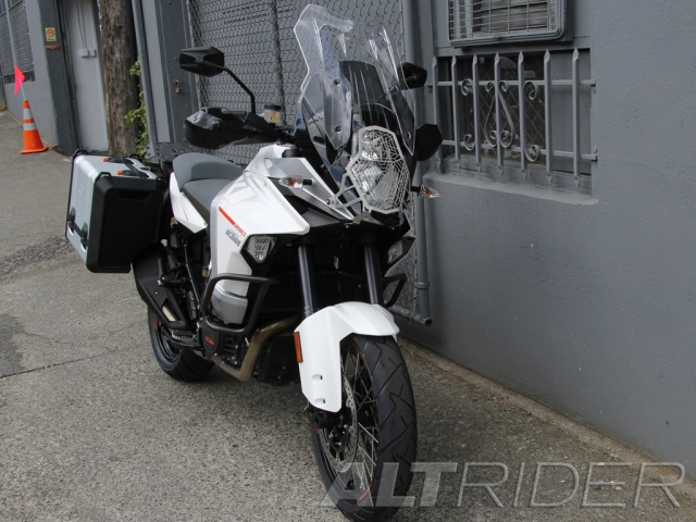 AltRider Radiator Guard for the KTM 1290 Super Adventure - Silver - Installed