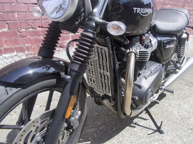 AltRider Radiator Guard for the Triumph Thruxton - Installed