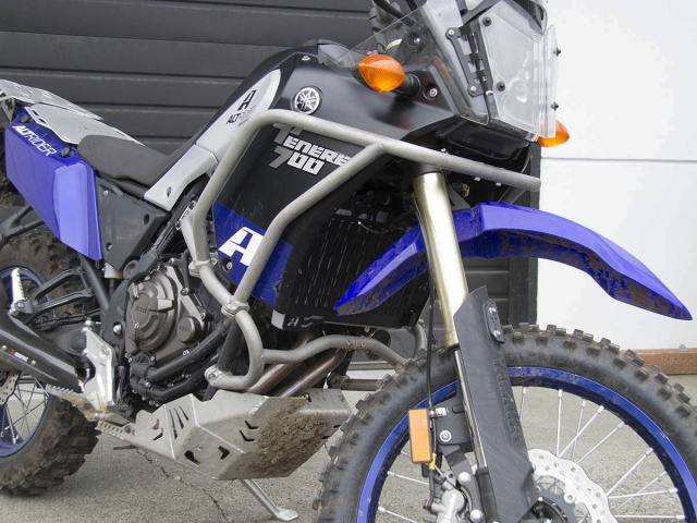AltRider Radiator Guard for the Yamaha Tenere 700 - Installed