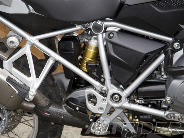 AltRider Rear Brake Reservoir Guard for the BMW R 1200 & R 1250 GS /GSA Water Cooled - Black - Installed