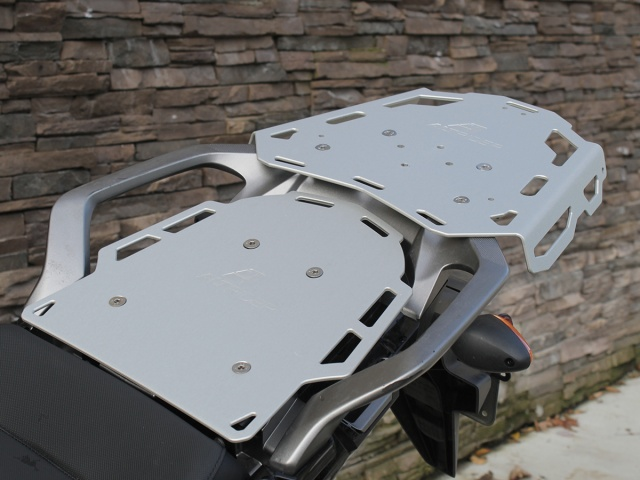 Altrider Rear Luggage Rack for the Honda CRF1000L Africa Twin - Silver - Installed