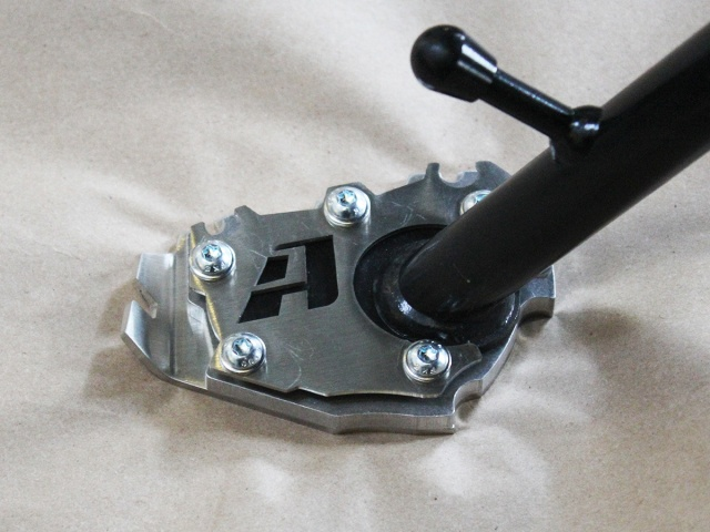 AltRider Side Stand Enlarger Riser Plate for the BMW R 1200 & R 1250 GS /GSA Water Cooled - Installed