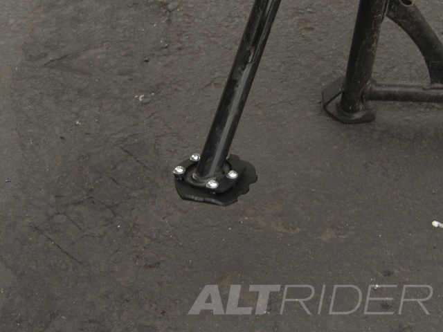 AltRider Side Stand Foot for the Husqvarna TR650 Terra and Strada - Black - Installed