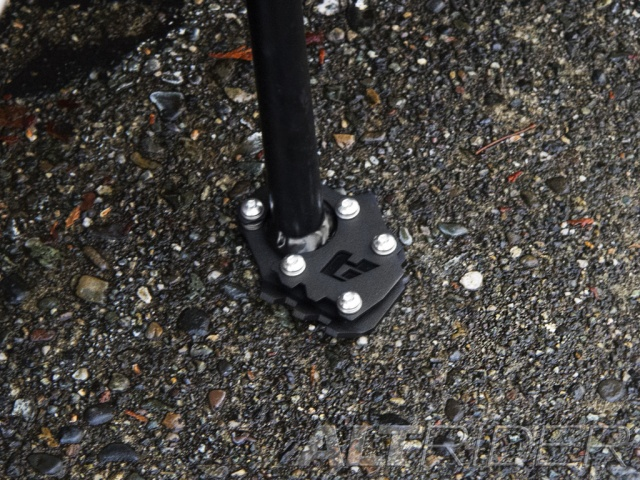 AltRider Side Stand Foot for the KTM 1290 Super Adventure - Black - Installed