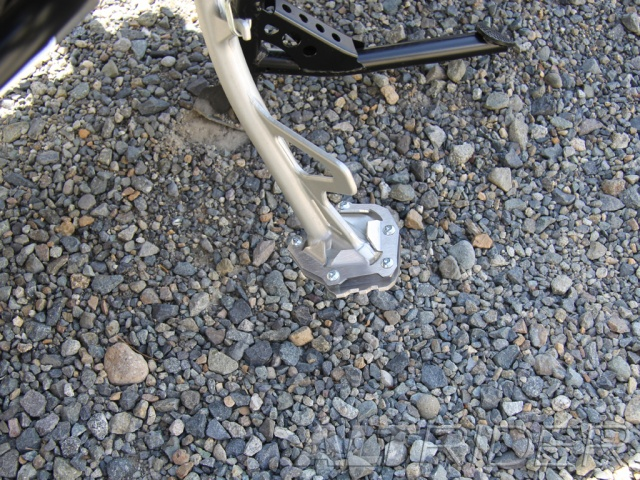 AltRider Side Stand Foot for the Yamaha Super Tenere XT1200Z (2014-current) - Silver - Installed