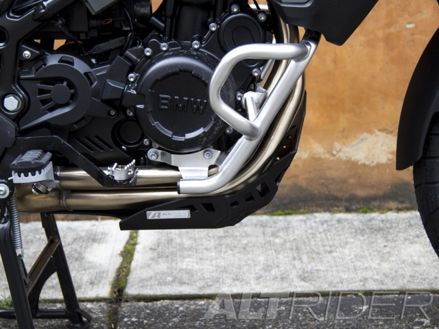 AltRider Skid Plate for the BMW F 800 GS /A - Black - Installed