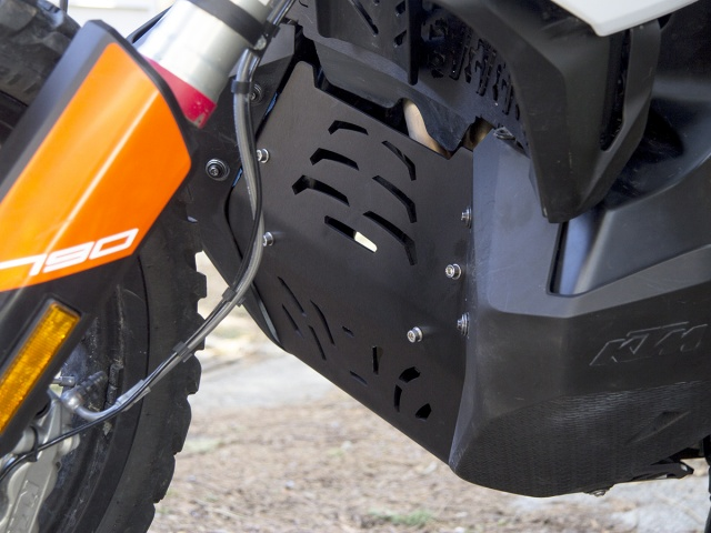 AltRider Skid Plate for the KTM 790 Adventure / R - Installed