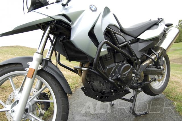 AltRider Skid Plate Kit for BMW F 700 GS - Black - Installed