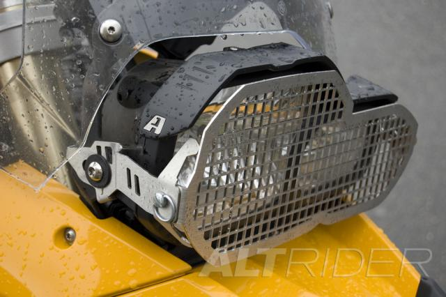 AltRider Stainless Steel Headlight Guard for the BMW F 700 GS - Installed