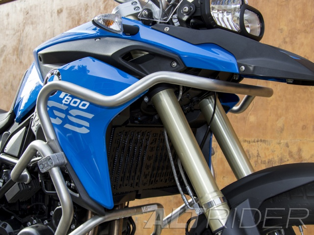 AltRider Upper Crash Bars Assembly for the BMW F 800 GS (2008-2012) - Triple Black (Grey) - Installed