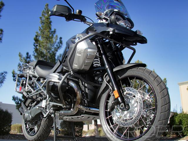 AltRider Upper Crash Bars Assembly for the BMW R 1200 GS (2008-2012) - Triple Black (Grey) - Installed