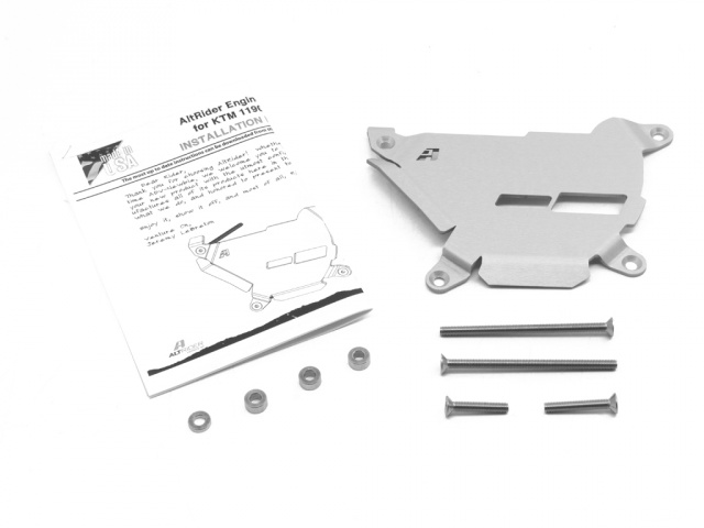 AltRider Clutch Side Engine Case Cover for the KTM 1050/1090/1190 Adventure / R - Silver - Product Contents